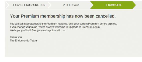 cancelar endomondo premium 2