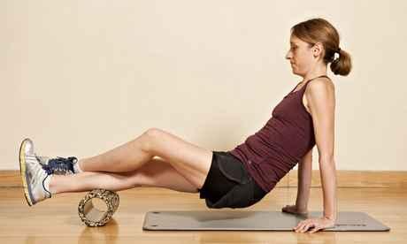 foam roller soleo anterior ejercicio