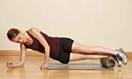 foam roller tibial anterior ejercicio