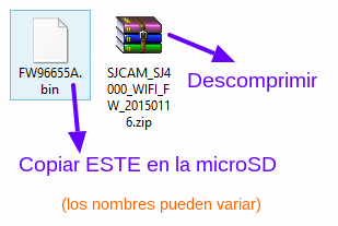 firmware sj4000 wifi actualizar