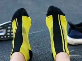 Calcetines Xwin running amarillos