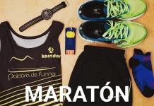 material de mi primera Maratón