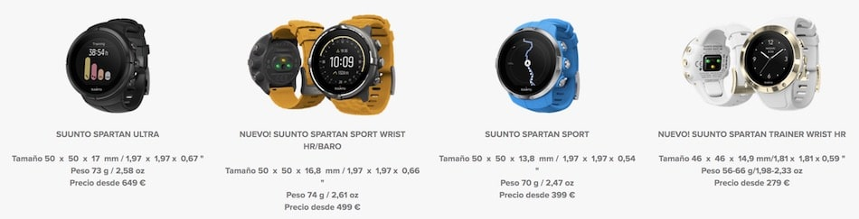 diferencias suunto spartan relojes