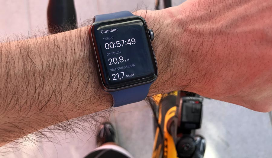aplicación de strava en el apple watch