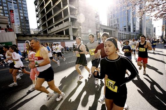 media maraton entrenamiento