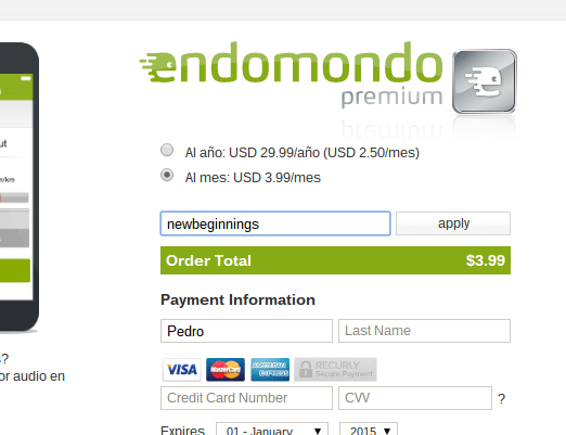 endomondo premium