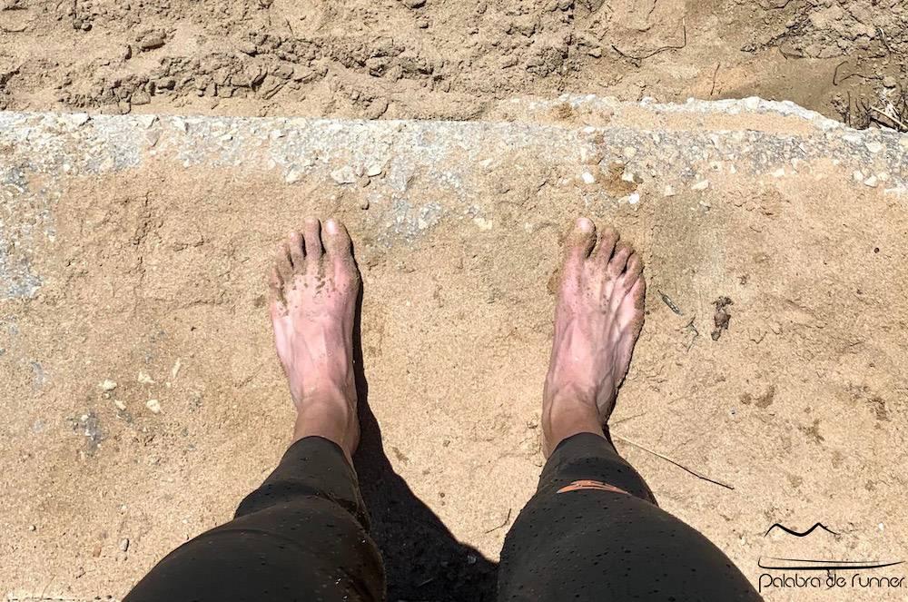 pies corredor uñas