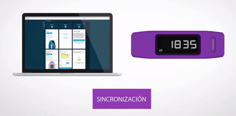 garmin vivofit sincronizacion