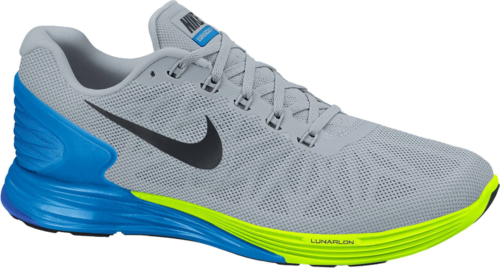 Cómodas Nike Mujer Zapatillas Gris De Running Lunarglide 6