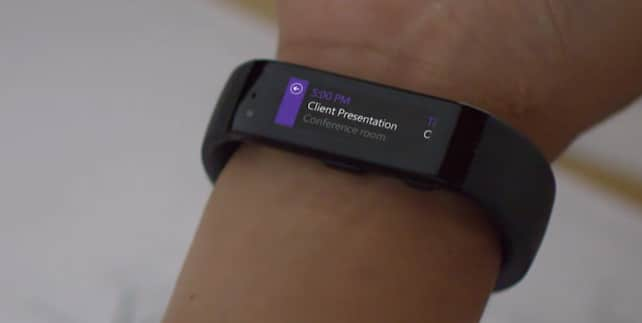 microsoft band calendario