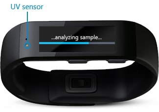 sensor UV microsoft band