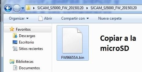 firmware sj5000 copiar