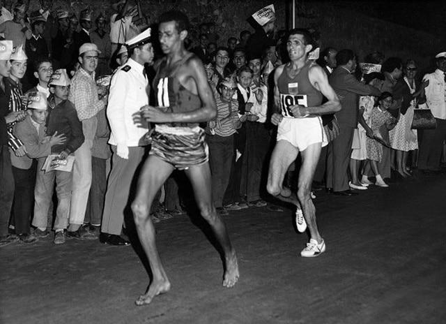 maraton roma juegos Abebe Bikila
