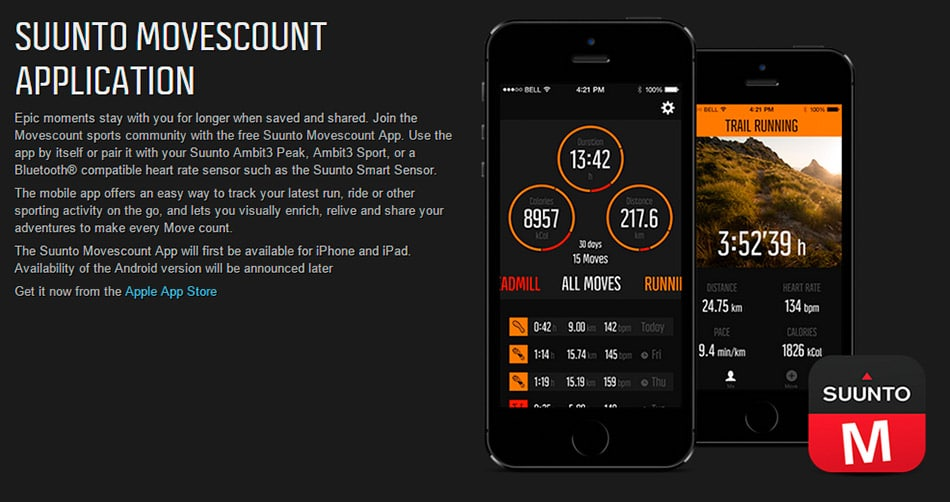 Movescount Suunto iOS iphone
