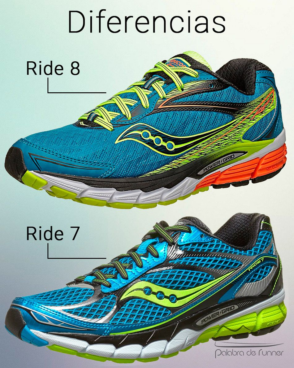 diferencias saucony ride 7 8