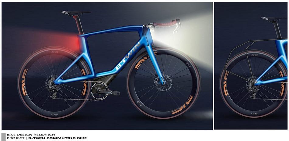 concepto de bicicleta urbana de Decathlon