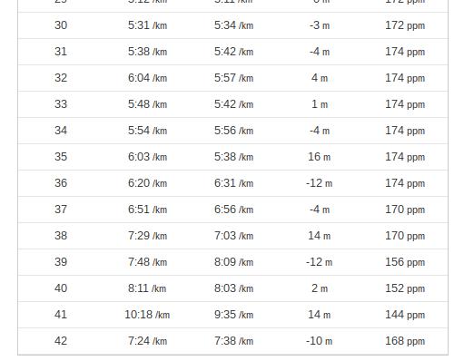 Parciales final maraton