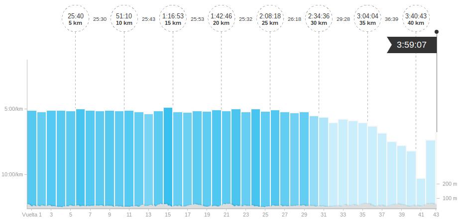 ritmo maraton murcia total