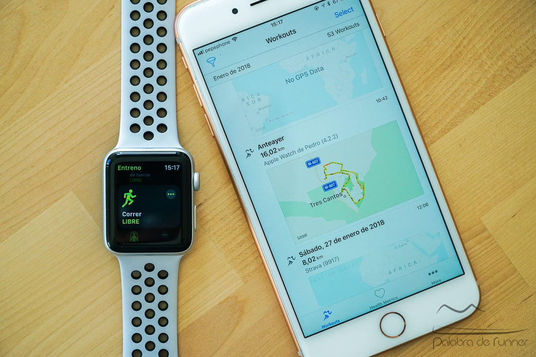 como exportar entrenamientos apple watch