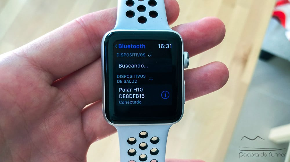 Apple Watch con cinta pulso de pecho
