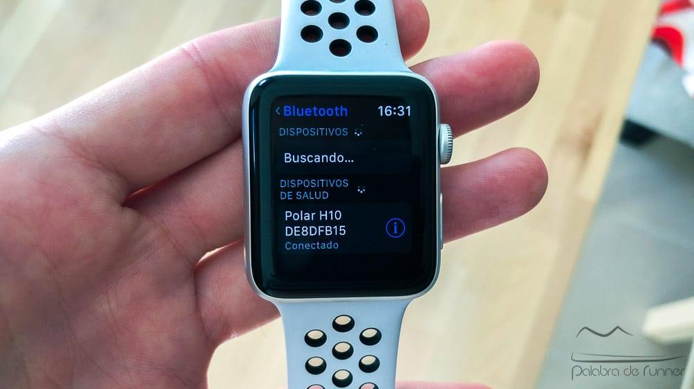 Apple Watch con cinta pulso de pecho