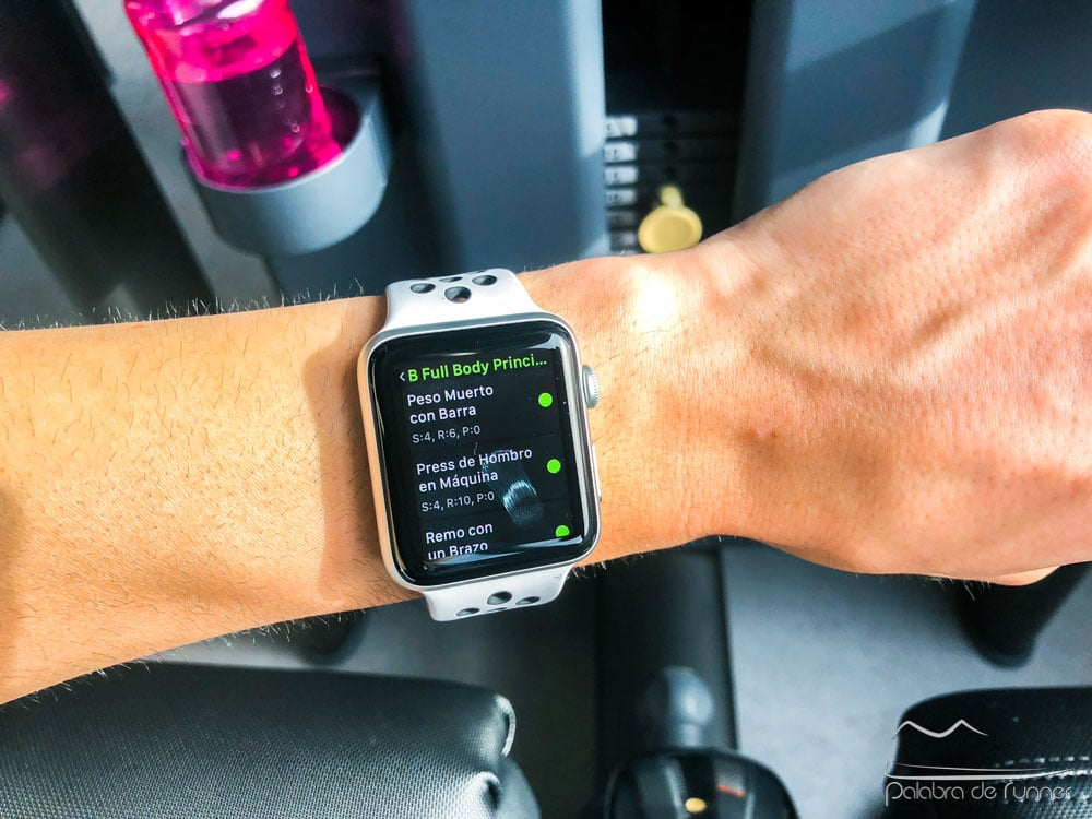 rutina gimnasio ejercicios apple watch