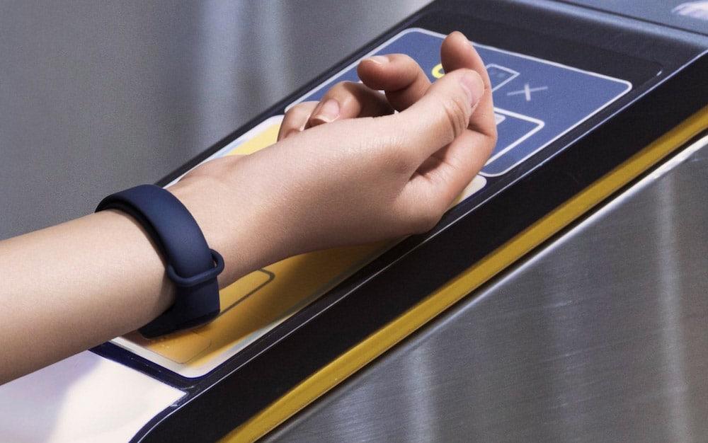 NFC en Xiaomi Mi Band 3