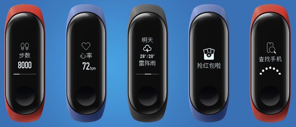 pantallas Xiaomi Mi Band 3