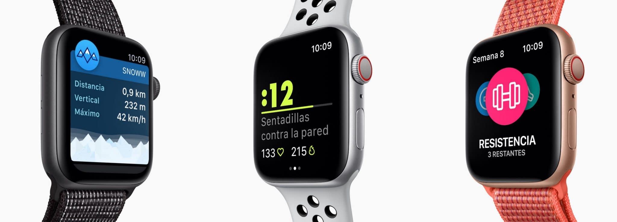 entrenamiento apple watch series 4