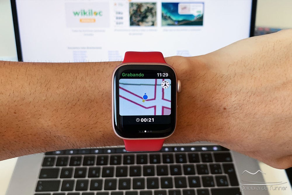 grabar rutas en apple watch con wikiloc