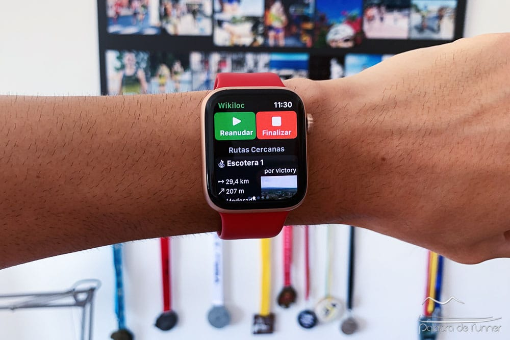 wikiloc disponible en el apple watch