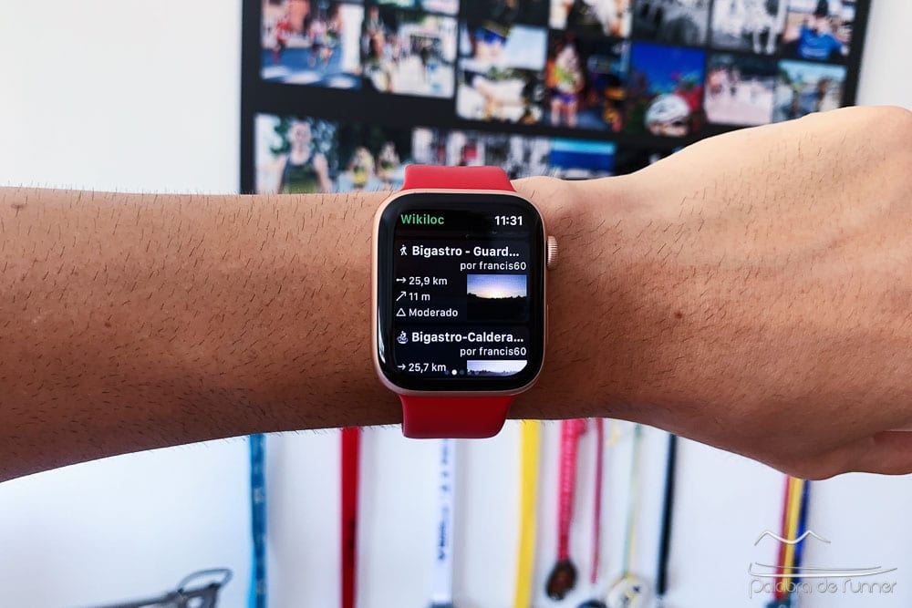 rutas en el apple watch con wikiloc