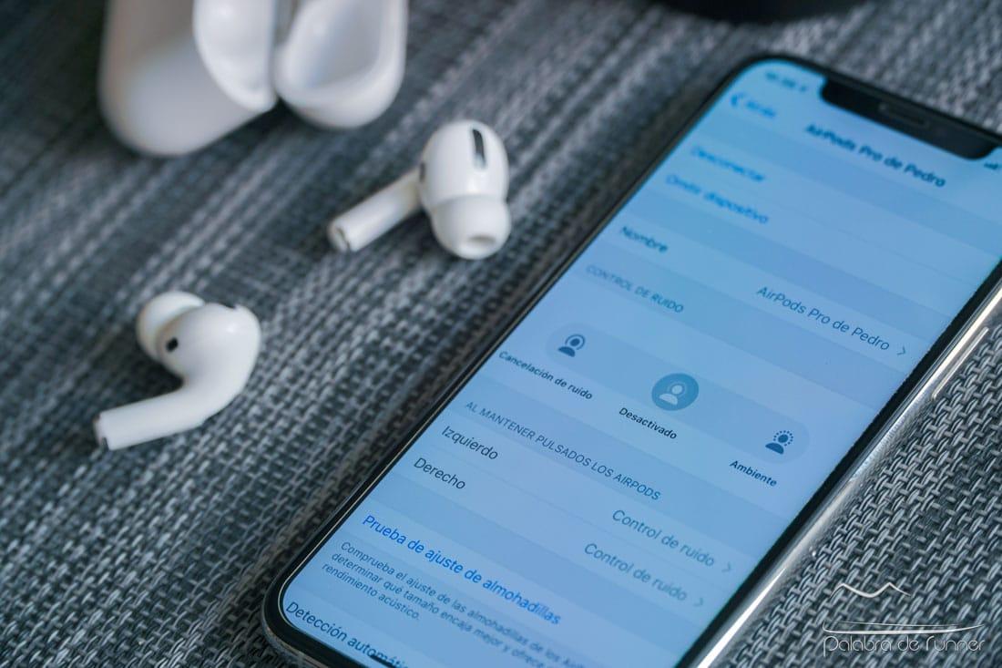Apple AirPods Pro modos de cancelacion de ruido