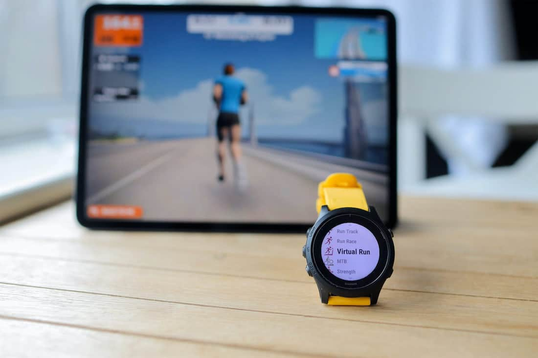 Garmin Forerunner con Zwift Run