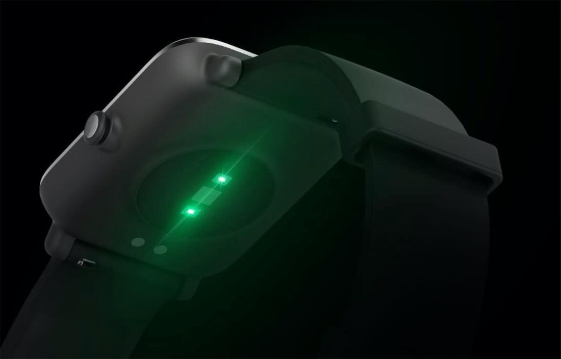 amazfit bip s sensor pulso optico