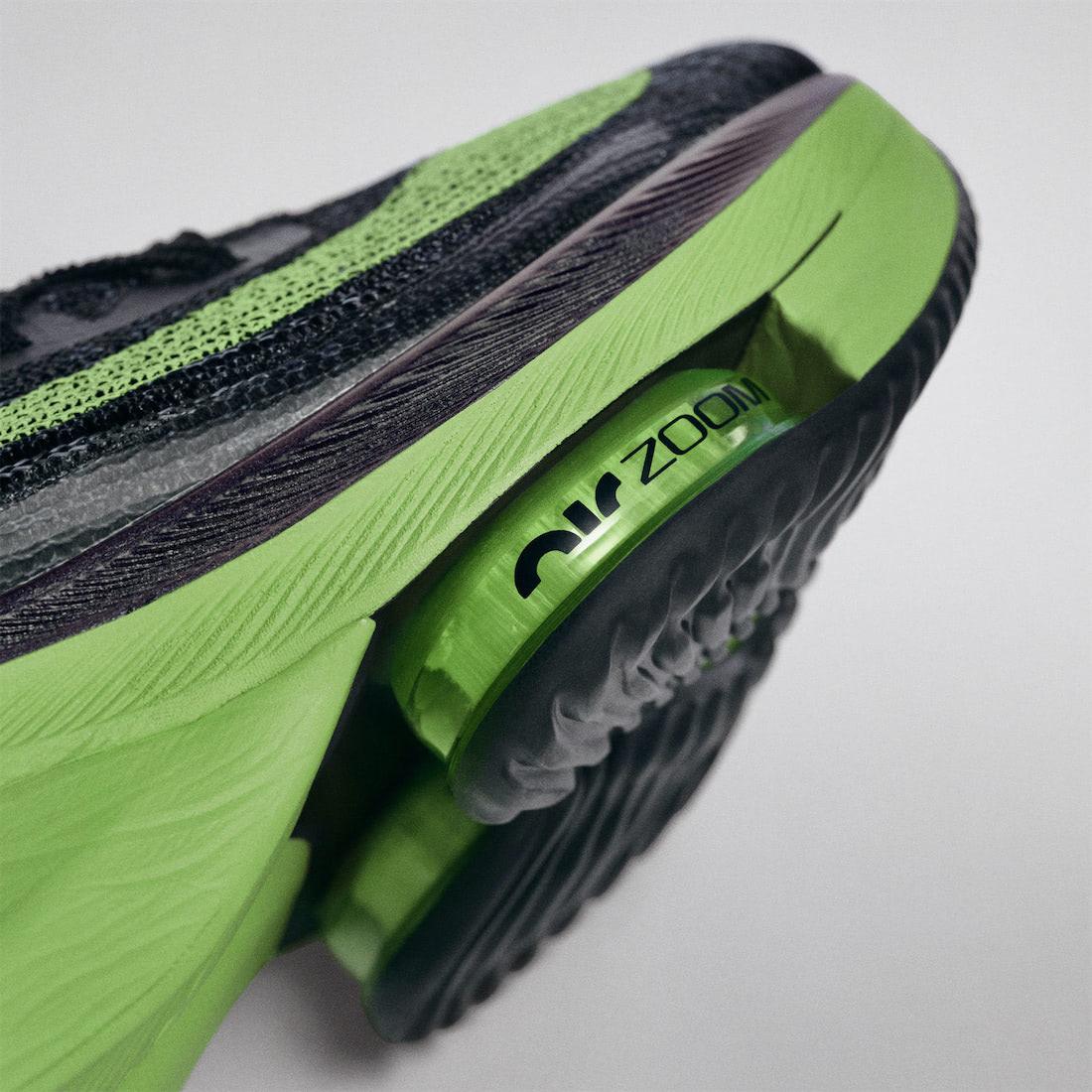 Zoom Air Pods en los metatarsos de la AlphaFly NEXT% de Nike