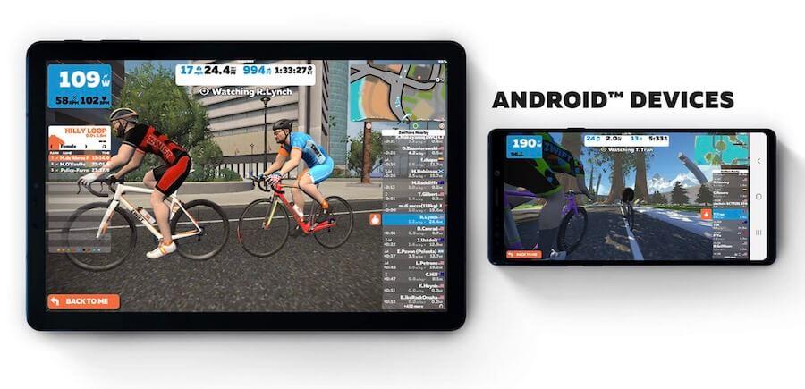 instalar Zwift en Android Aplicación para tablet y movil