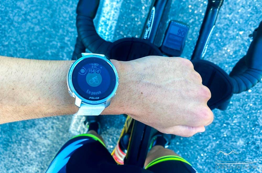 Polar Grit X ciclismo