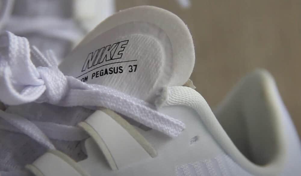 lengüeta de las Nike Pegasus 37.