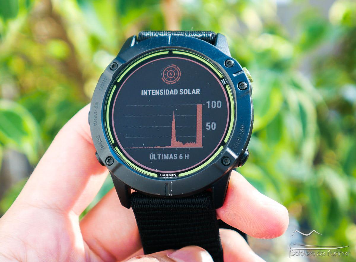 Garmin Enduro intensidad solar