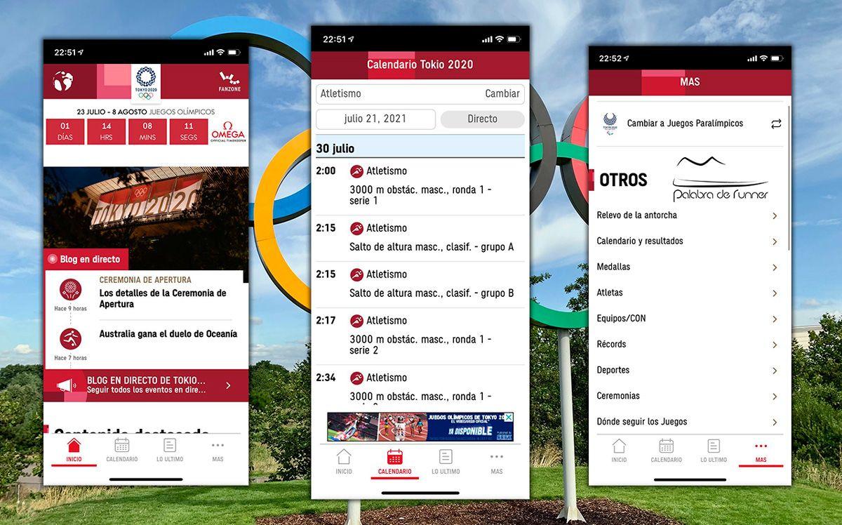 aplicación para seguir los Juegos Olímpicos