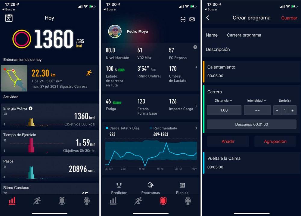 app-coros-interfaz-funciones